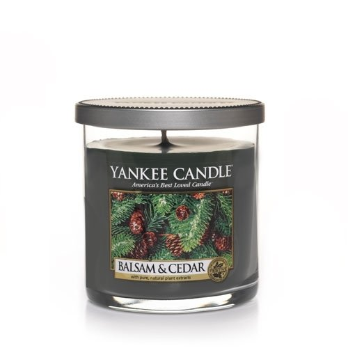 Balsam & Cedar Small Single Wick Tumbler Candle - Yankee Candle