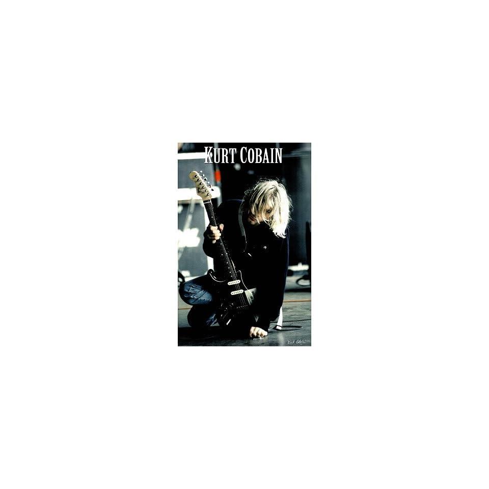 Kurt Cobain (On Ground w/ Guitar, Huge) Music Poster Print