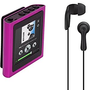 Polaroid PMP120-4PK Built-In Sports Clip Touch Screen Mp3 Player with Noise Isolating Earbuds for Sport Activities (pink)