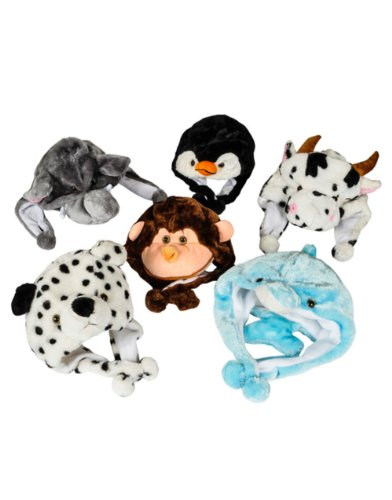 Adults Kids Plush Winter Beanie Dalmatian Dog Animal Zoo Hat Costume Accessory