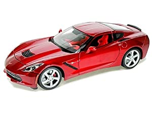 2014 Corvette C7 Diecast Model Car in Red 1:18 Scale by Maisto