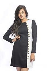 Pinwheel Women's Rayon Dress (Pwss15D004_Multi_Small)