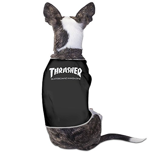 YRROWN Thrasher Skateboard Magazine Dog Shirt Harvest Grape Carnival Glass