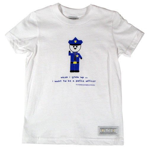 When I Grow Up ... I Want to Be a Police Officer T-shirt (2T)