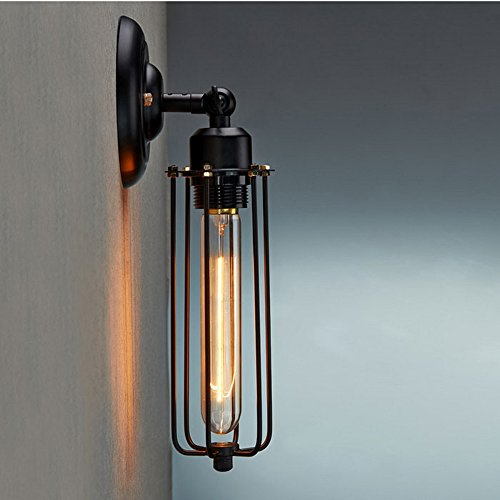 lighting-industrial-edison-vintage-style-mini-black-long-wire-cage-1-light-wall-sconce