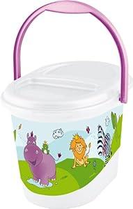 OKT Kids 1180110001200 - Contenedor para pañales, diseño de hipopótamo, color blanco por OKT Kids