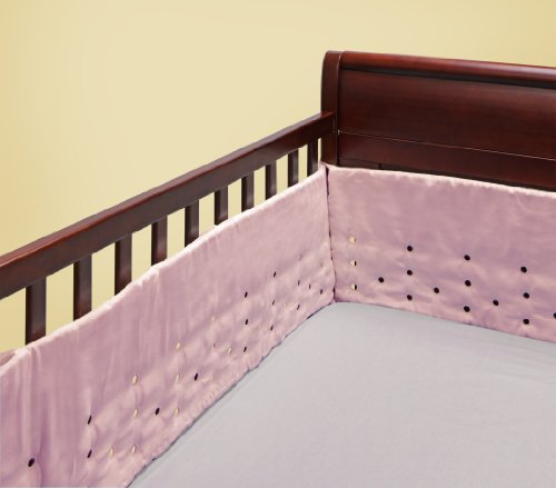 Bananafish Air Flow Crib Bumper, Pink (Discontinued by Manufacturer)