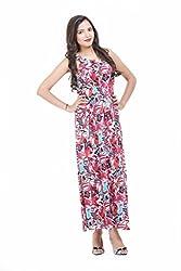 LOUISE BERRY Floral Print Multi-Coloured Maxi Dress (IV-1PC-6106-MRC-M_Multi_M)
