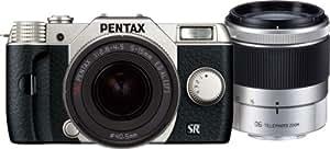 PENTAX デジタルミラーレス一眼 Q10 ダブルズームキット [標準ズーム 02 STANDARD ZOOM ・望遠ズーム 06 TELEPHOTO ZOOM] シルバー Q10 WZOOMKIT SILVER 12174