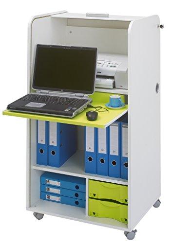 Simmob armoire informatique largeur 60 cm galb e blanche for Meuble armoire informatique