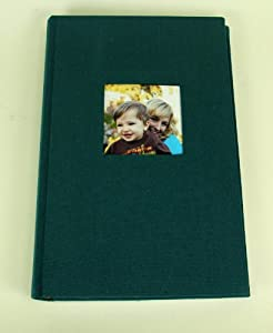 Deluxe Cloth Fabric Photo Album 4x6 300 Plastic Slip-in Pockets with Memo Space and Front Cover Theme Frame. Majestic Teal