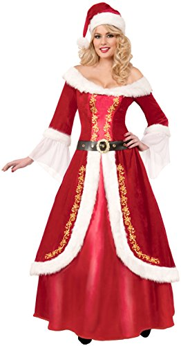 Forum Novelties Women's Premium Classic Mrs. Claus Costume