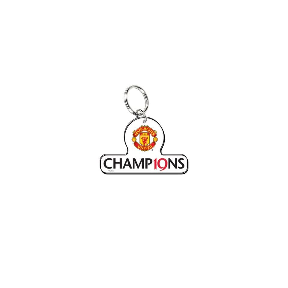 MANCHESTER UNITED OFFICIAL ACRYLIC 19 CHAMPIONSHIPS KEYCHAIN