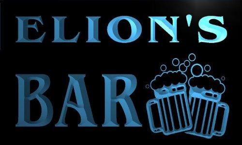 w071213-b-elions-name-home-bar-pub-beer-mugs-cheers-neon-light-sign