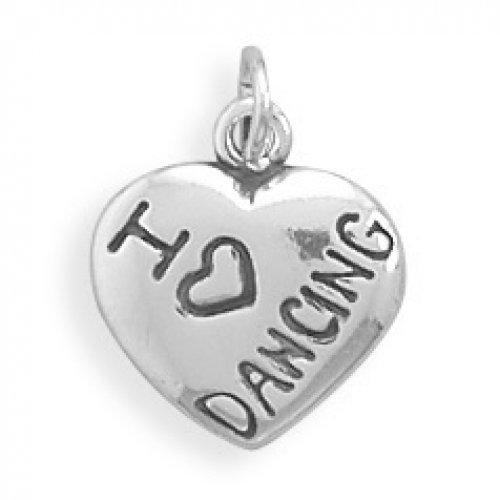 MMA Silver - I Love DANCING Charm