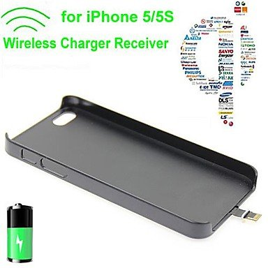 Peach Standard Wireless Charger Receiver Back Cover For Iphone 5/5S (Assorted Colors)
