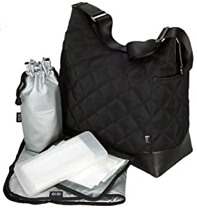 OiOi Quilted 6187 Hobo,Black,One Size