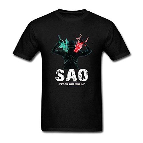 Michaner Walosde Sword Art Online Kirito Anime Manga Fan Art T Shirt For Men Medium