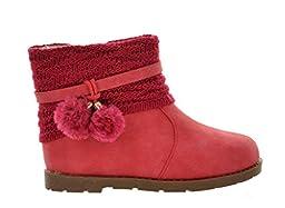 Dream Pairs DOREMI Girls Knit Sweater Winter Fur Boots