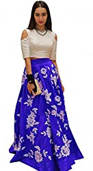 Dipak Fashion New Designer Blue Fancy Printed Silk Gown For Women