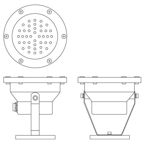 Aufbau-Strahler, outdoor, silbern, 40 LEDs