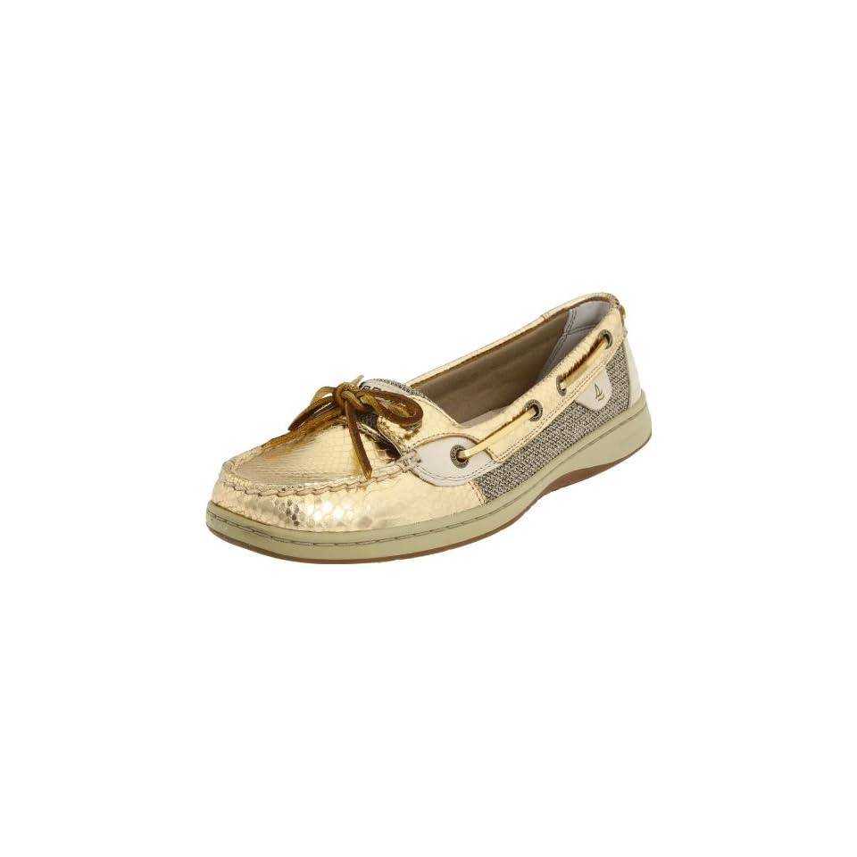 Sperry Top Sider Womens Angelfish Gold Snake Shoe Designer
