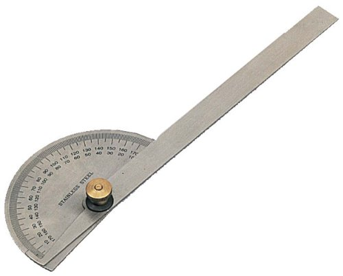 classic stainless protractor with compass dia 3 38