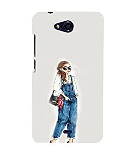 EPICCASE Dungry girl Mobile Back Case Cover For Micromax Canvas Play Q355 (Designer Case)