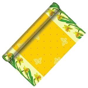 3m rolle tischlaeufer 40cm narzisse gelb stoffaehnlich papier ostern tischband tischdeko. Black Bedroom Furniture Sets. Home Design Ideas