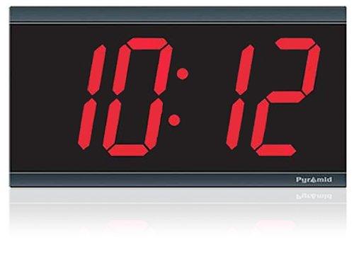 Pyramid 4-Inch 4 Digit Red LED Hard Wired Digital Clocks (41357G)