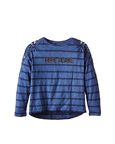 Pepe Jeans London Camiseta Manga Larga Candy Azul Oscuro