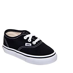 VANS Toddlers Authentic Black VN000ED9BLK Toddler 6