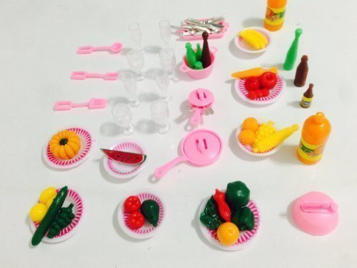 Barbie Size Kitchen Utensil & Vegetable Accessories Set (Set of Two) - 1