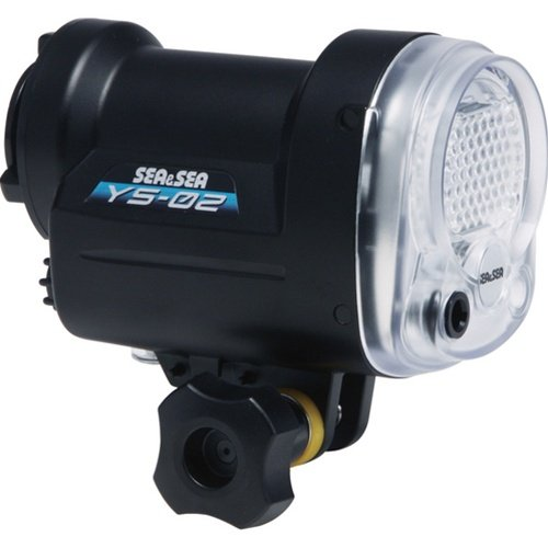 Sea and Sea YS-02 Strobe Head without Fiber Optic Cable Black
