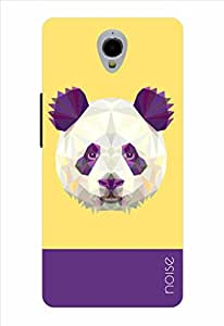 Noise Crystal Panda-Yellow Printed Cover for Alcatel One Touch Idol X Plus