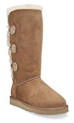 UGG Australia Women's Bailey Button Triplet Boots Footwear Chestnut Size 9 M