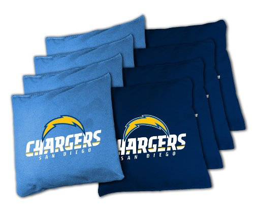 San Diego Chargers Backpack: NFL San Diego Chargers 16oz, Duckcloth Cornhole Bean Bags