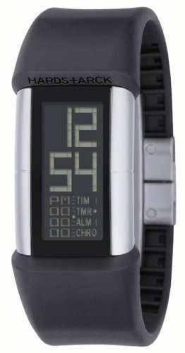Philippe Starck PH1034 Women's Digital Quartz Multifunction Watch with Black Plastic Strap