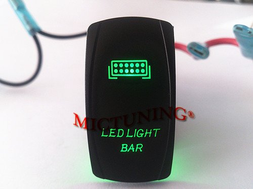 Laser Green Rocker Switch Led Light Bar 20A 12V On/Off Led Light_ Off Road 4X4 Atv Utv Vehicles Trucks Jeep Boat