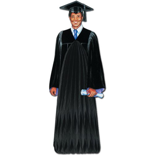 Beistle Male Graduate Centerpiece, Black