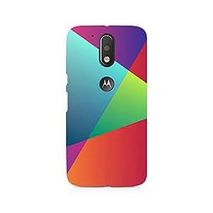 Motivatebox- Just Random Colors Premium Printed Case For Moto G4/G4 Plus -Matte Polycarbonate 3D Hard case Mobile Cell Phone Protective BACK CASE COVER. Hard Shockproof Scratch-