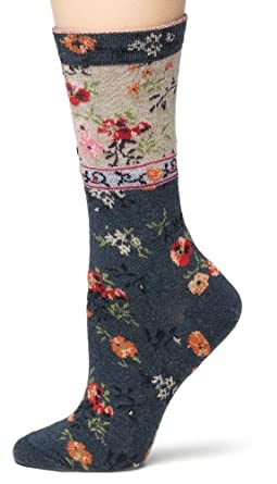 Ozone Women's Mona Linen Socks,Navy, One Size