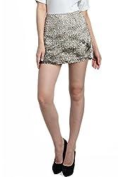Divaat Multi Sequin Short Skirt For Women