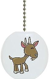 Carolina Hardware and Decor 1638F Baby Goat Farm Animal Ceramic Fan Pull