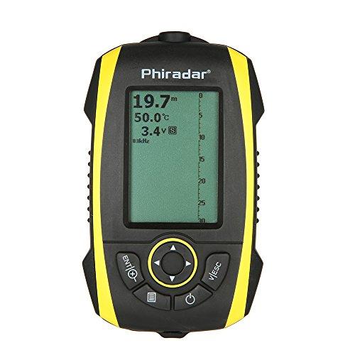 Docooler Indicateur de Pêche LCD Portable Intelligent Sonar Alarme Transducteur Outil de poisson