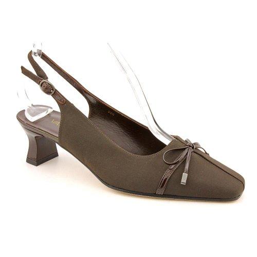 Vaneli Rip Womens Size 6 Brown X Wide Textile Slingbacks Heels Shoes New/Display