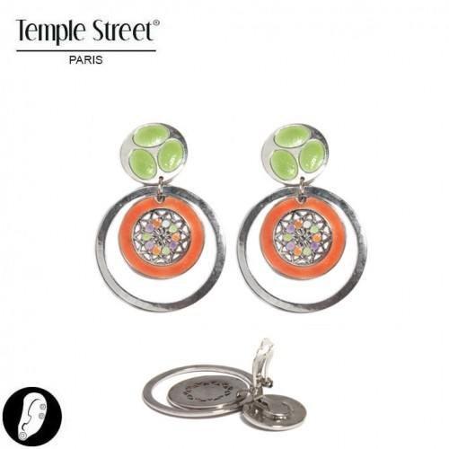sg paris women earrings clip earring multi enamel/metal