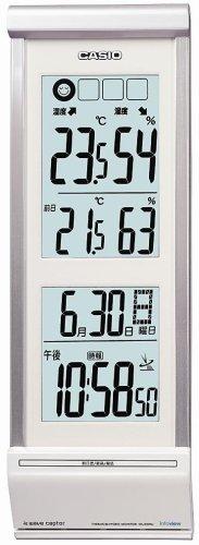 CASIO (カシオ) 掛け時計 WAVE CEPTOR ウェーブセプター 電波時計 生活環境お知らせ インテリアクロック IDL-200NJ-8JF