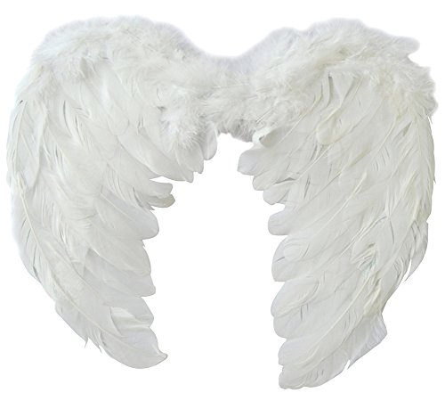[Hestio Feather Wings Angel Fairy Fancy Dress Costume Halloween Party Favor] (Angel Wings For Halloween Costumes)