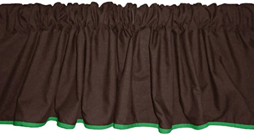 Baby Doll Reversible Window Valance, Brown/Green - 1